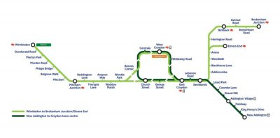 Tram new timetable London