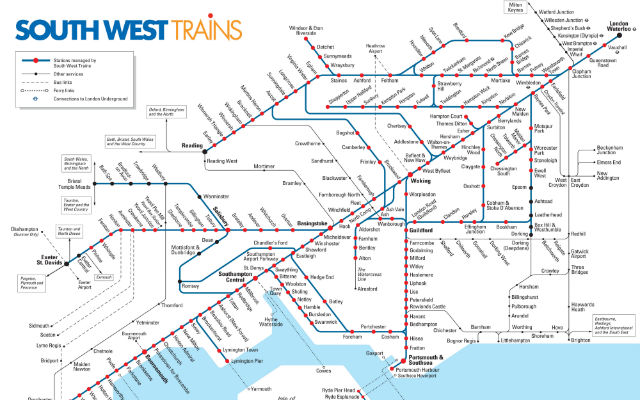 South West Train Map South Western franchise improvements revealed   Rail Professional South West Train Map
