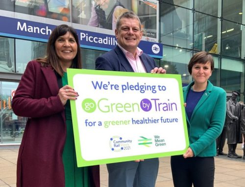 North hosts national launch of week-long 'Go Green by Train' campaign