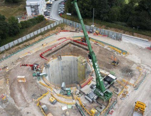Excavation begins for HS2's first 'barn design' tunnel vent shaft