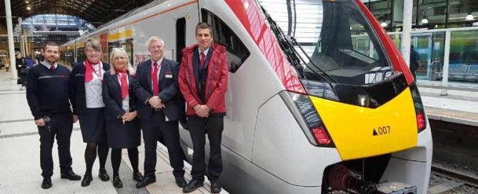 GA first new intercity train at Lst with our on train team (1)