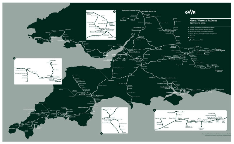 GWR Network Map