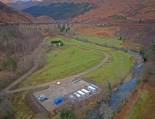 Glenfinnan Viaduct is the back drop to railway protection work