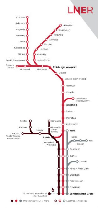 LNER Route Map