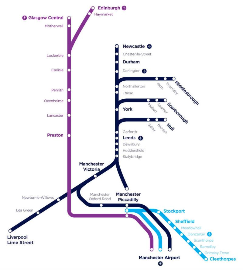 Transpennine Express Route Map New timetable means more services, enhanced connectivity and more