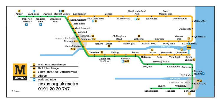 NEXUS - Metro Map
