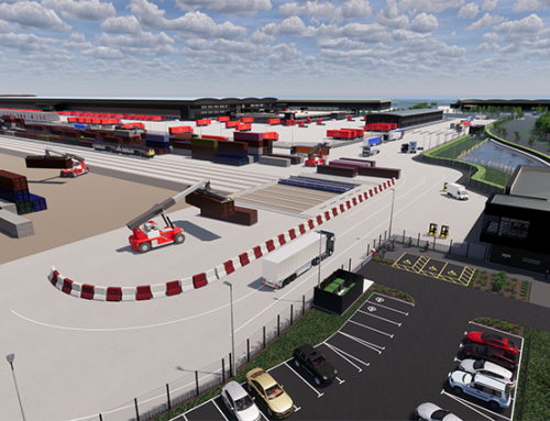 Major infrastructure project begins at UK rail freight terminal
