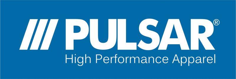 PULSAR 2017 Logo - High Performance Apparel - Blue Background (002)