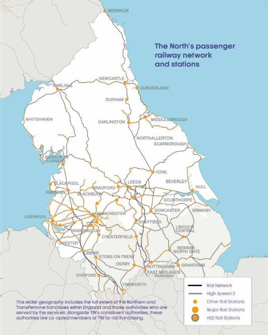 transport for the north map