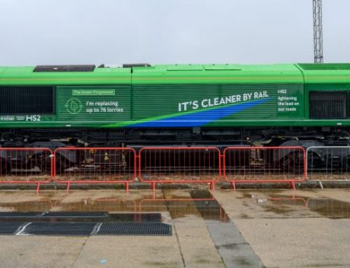 Young HS2 fan names new carbon-friendly freight train