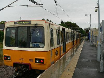 Prototype Tyne and Wear Metro train 4001