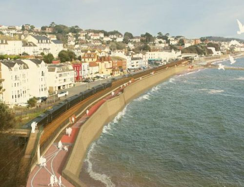 Plans for a new sea wall to protect the railway at Dawlish approved by Teignbridge District Council