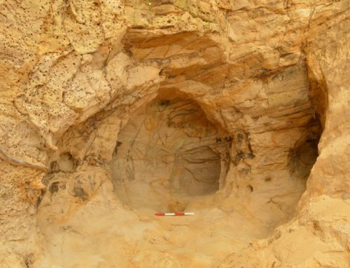 14th century cave and drawings discovered during landslip repair works near Guildford